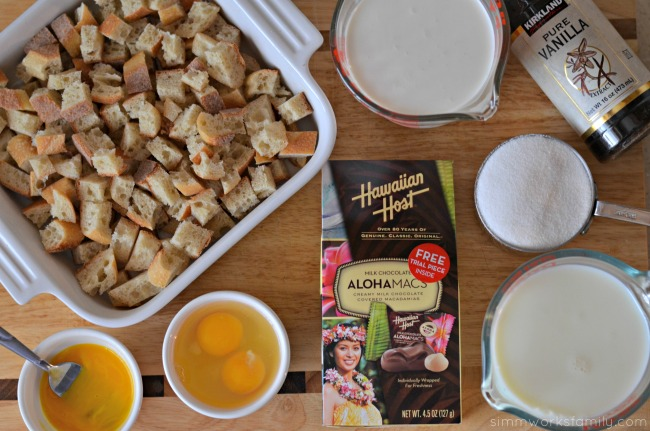 AlohaMac Bread Pudding With Caramel Sauce ingredients