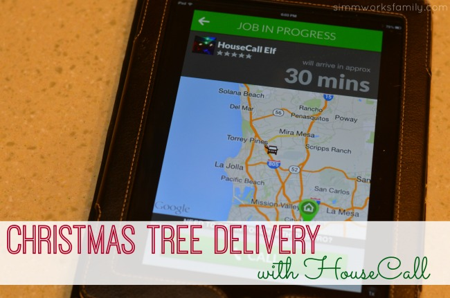 Christmas Tree Delivery in San Diego with HouseCall