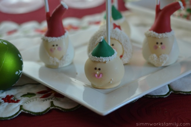 Holiday Ornament Exchange Ideas cake pops