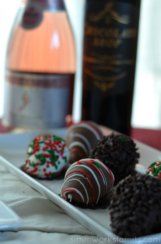 Holiday Ornament Exchange Ideas dipped berries