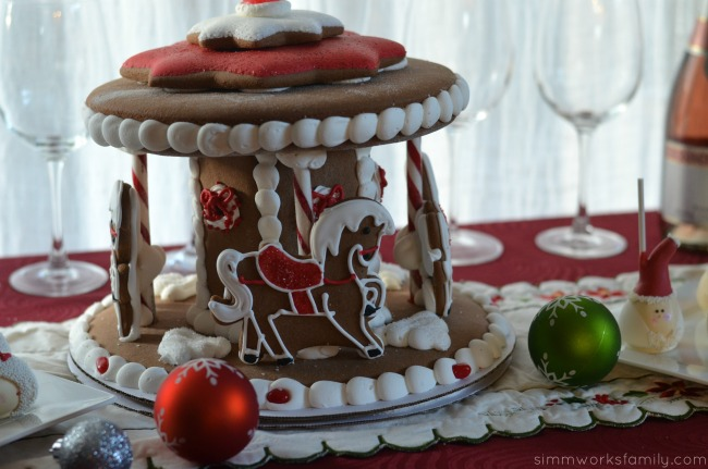 Holiday Ornament Exchange Ideas gingerbread carousel