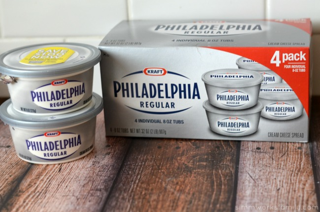 Hot White Pizza Dip Philadelphia cream cheese #LoveMyPhilly #shop