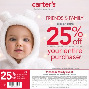 MCC Carter's Friends & Family Event Coupon
