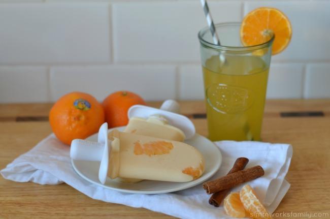Mandarin Orange Cream Pops close up