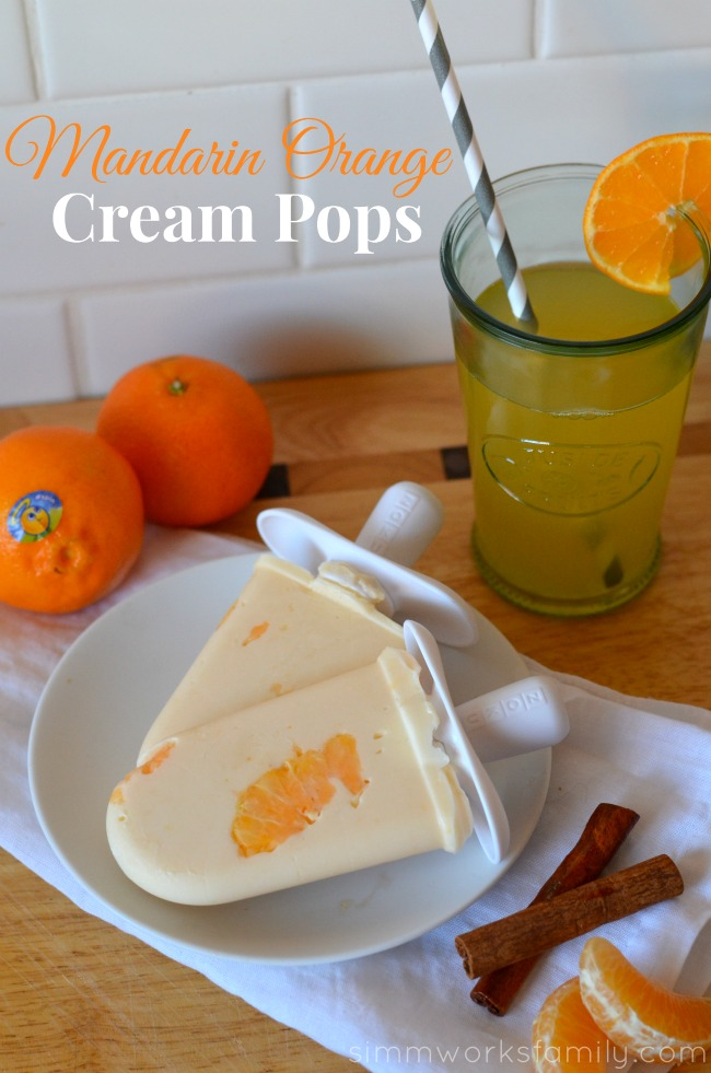 Mandarin Orange Cream Pops