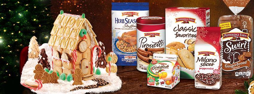 Pepperidge Farm Holiday Cookie Sweepstakes cookies
