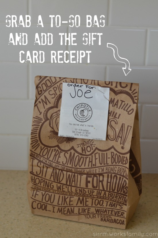 Unique Gift Wrapping Ideas for Gift Cards add name tag