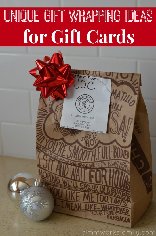Unique Gift Wrapping Ideas for Gift Cards