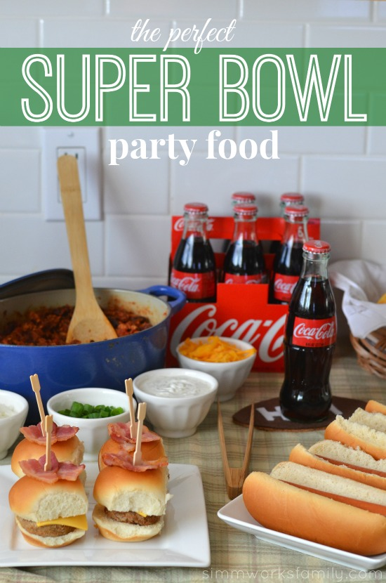 super bowl party food spread