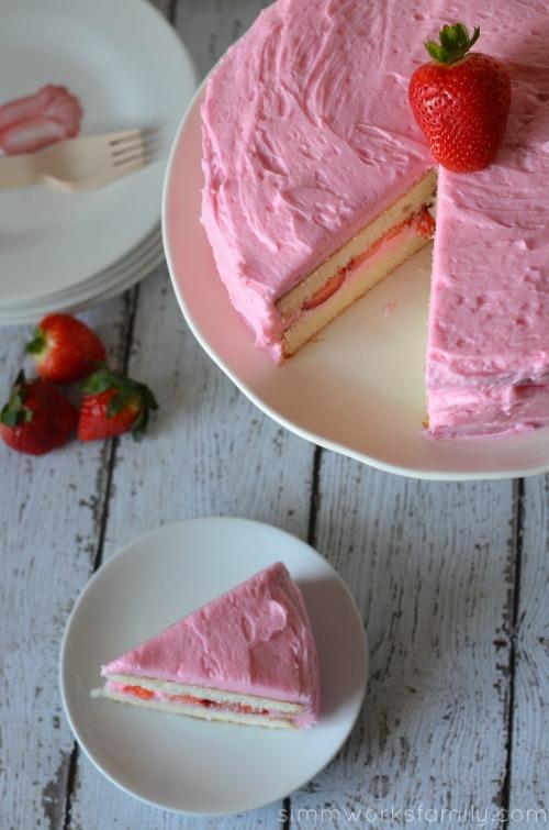 white party cake aerial