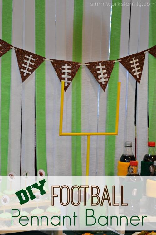 DIY Football Pennant Banner