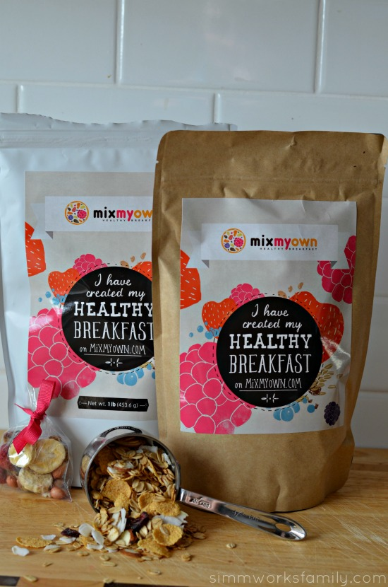 MixMyOwn healthy breakfast creation