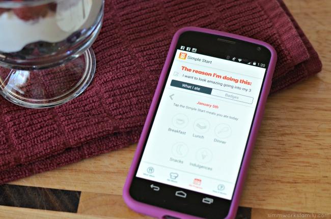 Weight Watchers Simple Start App - tracking each meal  #SimpleStart