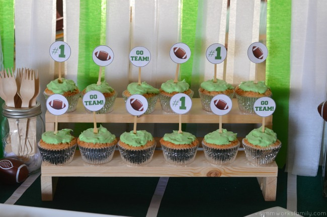big game party ideas angel food cupcakes