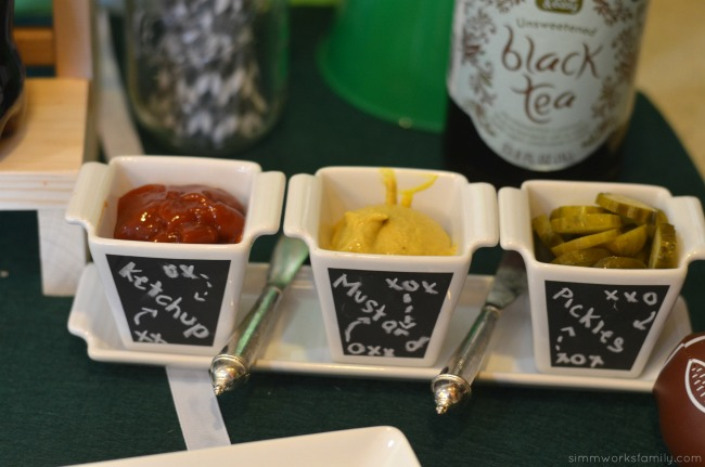 big game party ideas condiments