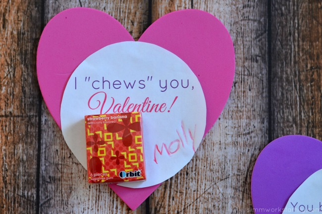 bubble gum valentine printable I chews you