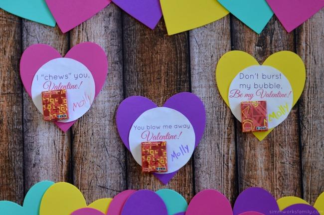 bubble gum valentine printable assembled
