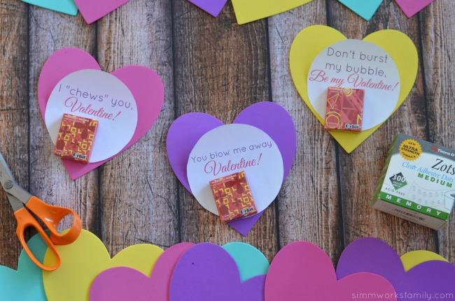 bubble gum valentine printable supplies