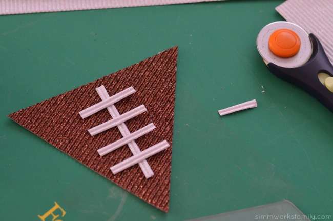 diy football pennant banner laces