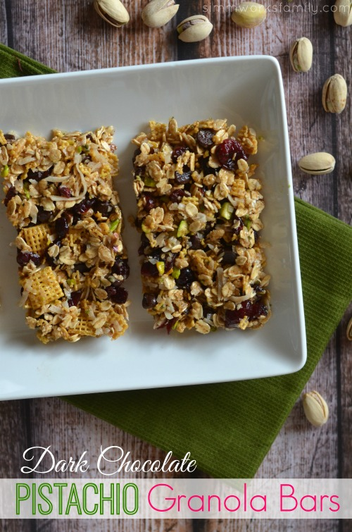 pistachio granola bar recipe