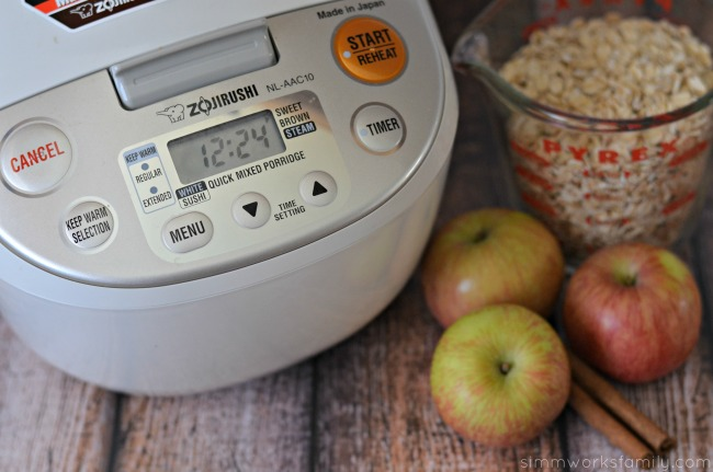 make oatmeal in a rice cooker zojirush nl aac10i
