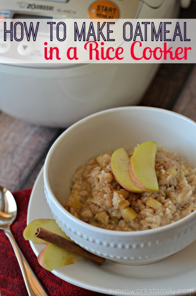 make oatmeal in a rice cooker