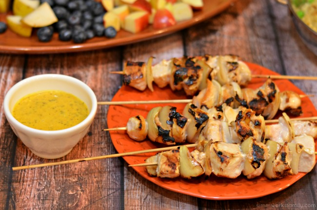 movie night ideas chicken kabobs with dipping sauce