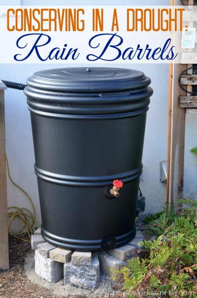 rain barrel rebate program drought san diego