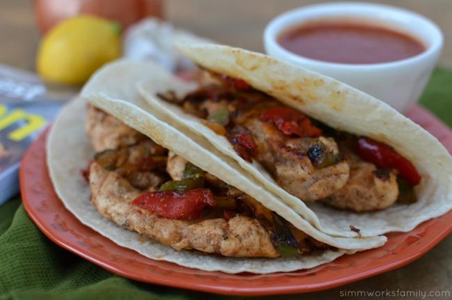 125 Best Chicken Recipes book Chicken Fajitas close up