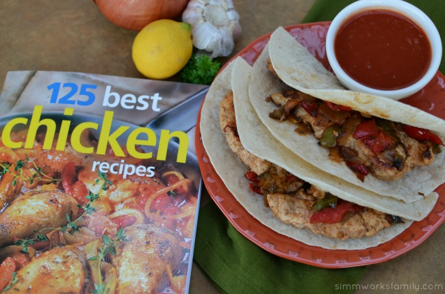 125 Best Chicken Recipes book Chicken Fajitas recipe