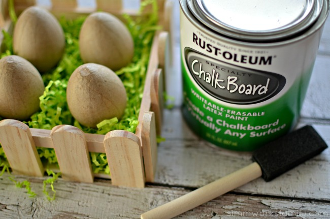 Chalkboard Easter Eggs materials