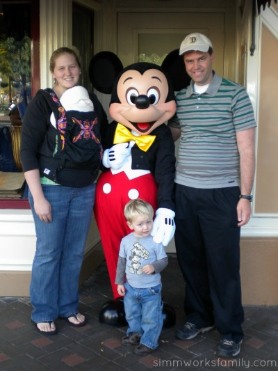Ergo Carrier with Molly at Disneyland - first visit