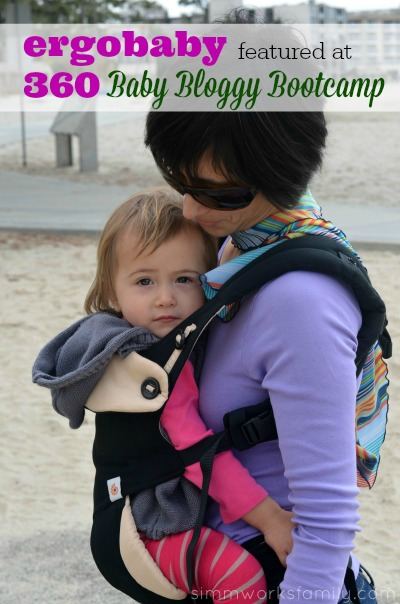 Ergobaby 360 Carrier featured at Baby Bloggy Bootcamp