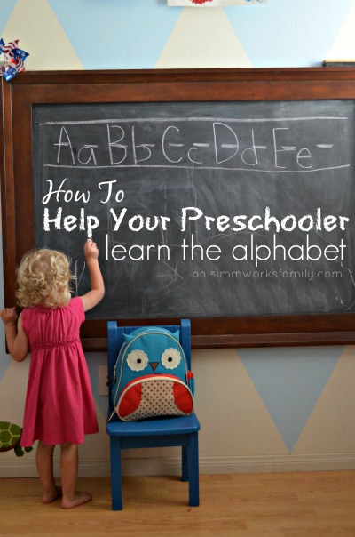 How to Help Your Preschooler Learn The Alphabet