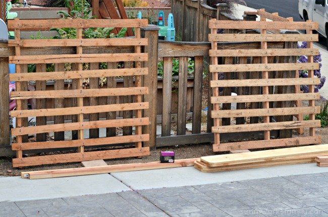 build a vertical garden using pallets - pallets