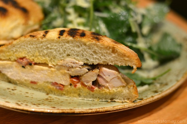 date night tender greens chipotle barbecue chicken sandwich with kale salad