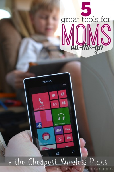 5 Great Tools for Moms On-The-Go including the Cheapest Wireless Plans