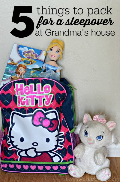5 Things to Pack for a Sleepover at Grandma's House