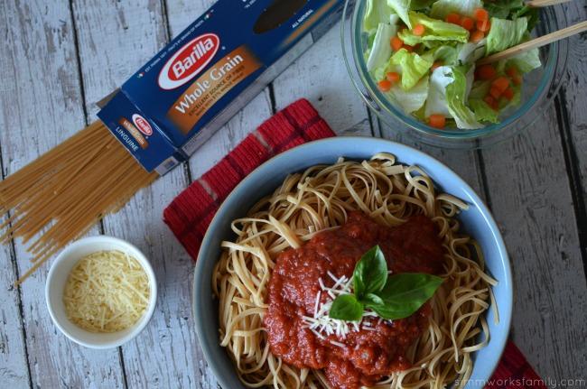 Creating a Family Table Barilla pasta and salad