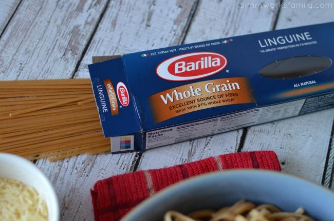 Creating a Family Table barilla whole grain pasta