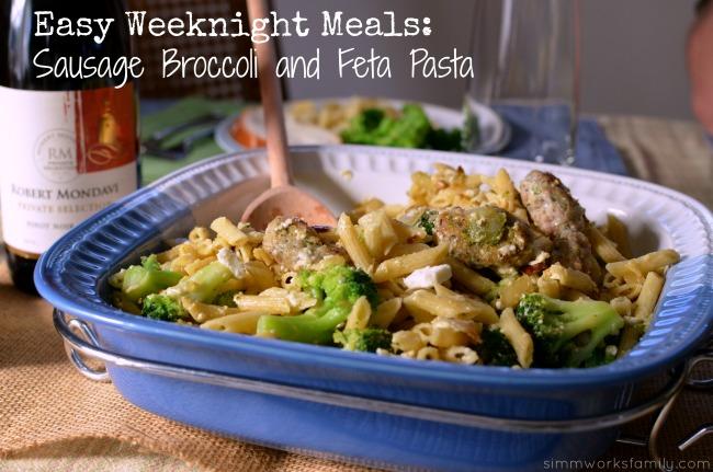 Easy Weeknight Meals Sausage Broccoli and Feta Pasta Recipe