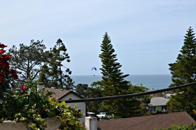 Enjoying a Seaside Wellness Weekend Getaway in Del Mar - parasailing over the ocean