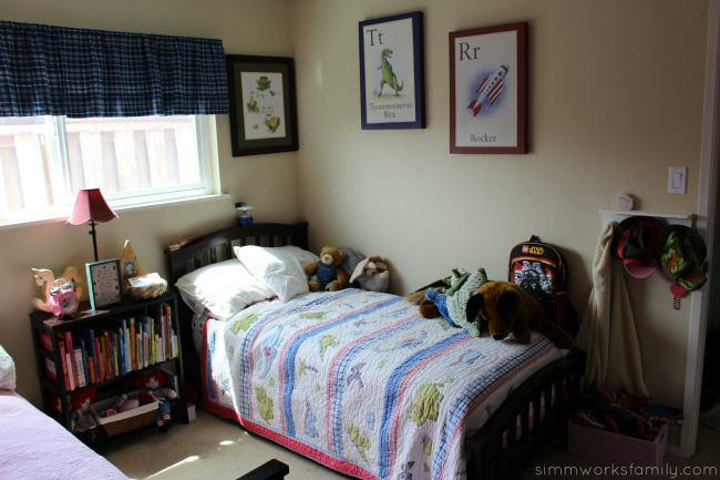 Shared Bedroom Ideas for Brother and Sister - boys side
