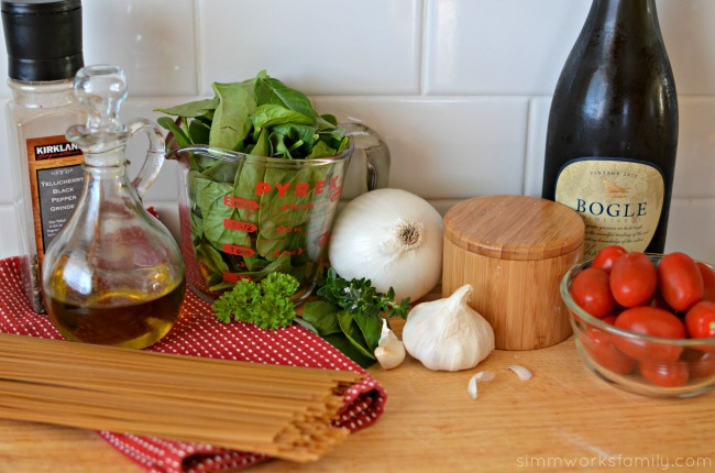 Chicken and Linguine with White Wine Sauce ingredients