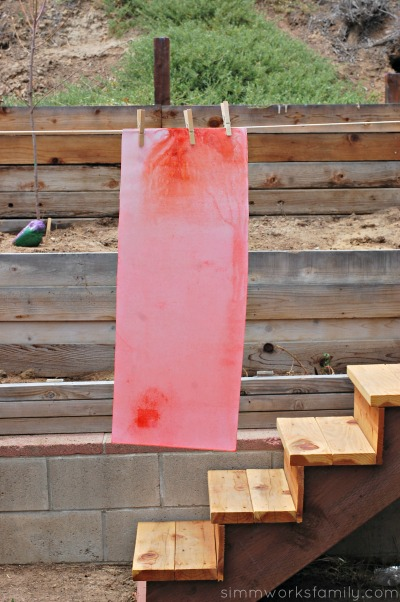 DIY Fruit Juice Dyed Watermelon Windsock dry paper