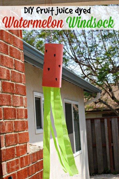 DIY Fruit Juice Dyed Watermelon Windsock