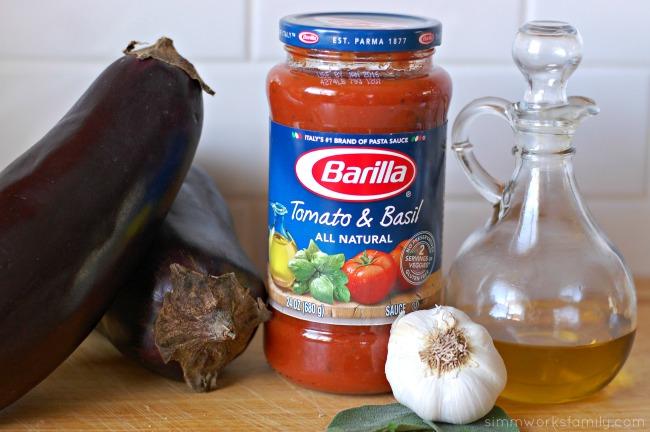 Eggplant French Bread Pizza with Barilla Sauce