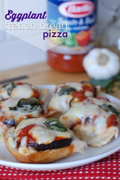 Eggplant French Bread Pizza