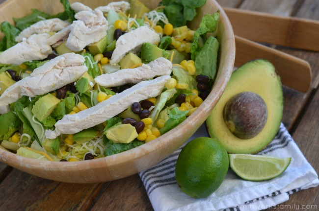 Easy Summer Dinners Kraft Chopped Grilled Chicken Salad with avocado