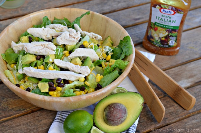 Easy Summer Dinners Kraft Chopped Grilled Chicken Salad with dressing